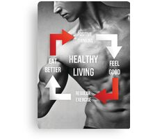 Healthy Living Infographic Canvas Print