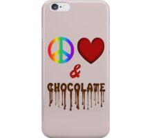 Peace Love & Chocolate iPhone Case/Skin
