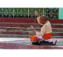 Nun, Shwemawdaw Paya, Bago Photographic Print
