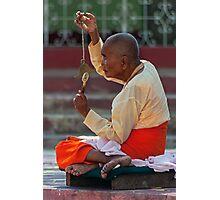 Nun2, Shwemawdaw Paya, Bago Photographic Print