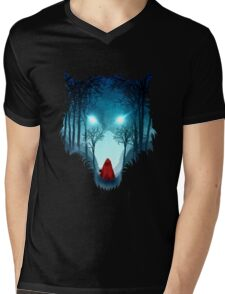 Big Bad Wolf (dark version) Mens V-Neck T-Shirt