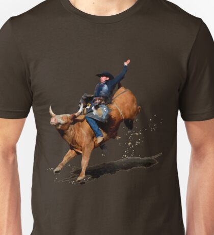 Bull Dust (Rodeo Bull and Cowboy) Unisex T-Shirt