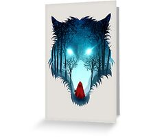 Big Bad Wolf (light version) Greeting Card