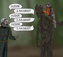 Game OF Thrones, Gardians OF Galaxy - Hodor Meets Groot by SamSaab