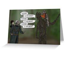 Game OF Thrones, Gardians OF Galaxy - Hodor Meets Groot Greeting Card