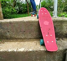 Cruiser boards on a bridge by dinajalaf