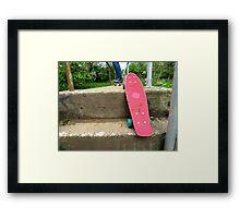 Cruiser boards on a bridge Framed Print