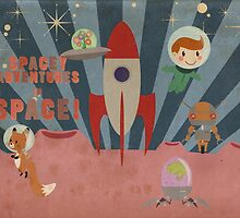 Spacey adventures in space by Luke Barclay