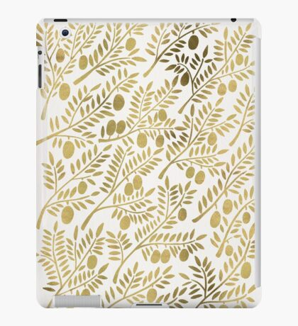 Gold Olive Branches iPad Case/Skin