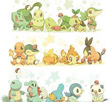 All Starter Pokemon From All Generations by SamSaab