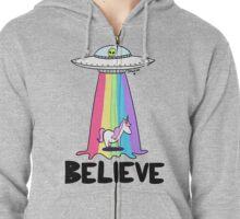 Believe Zipped Hoodie