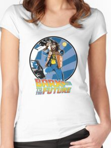 Bark to the Future Women's Fitted Scoop T-Shirt