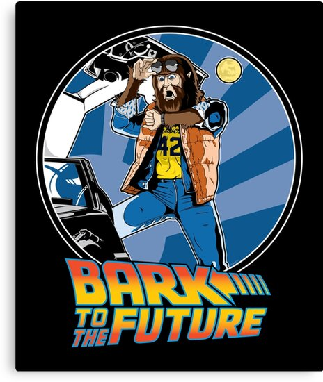 Bark to the Future by mikehandyart