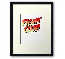 Fight Club - Street Fighter Shirt  Framed Print