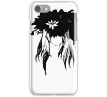 Her mind - an explosion of ink petals  iPhone Case/Skin