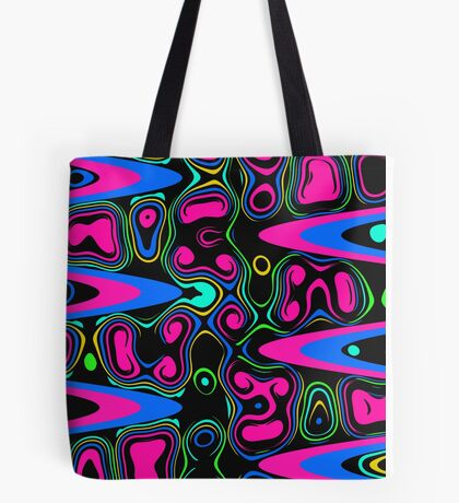 Psychedelic Cell in Pink and Blue Tote Bag