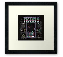 Tetrominoes Framed Print