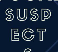 The Vocal Suspects Eye Chart Navy Geo Sticker Sticker