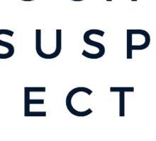 The Vocal Suspects Eye Chart White Sticker Sticker