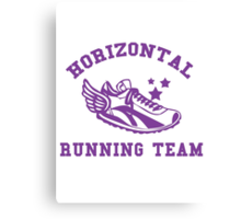 Horizontal Running Team Canvas Print