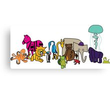 The Strange Menagerie Canvas Print