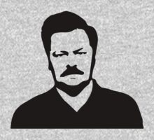 Ron Swanson - Parks and Recreation One Piece - Long Sleeve