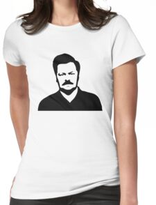 Ron Swanson - Parks and Recreation Womens Fitted T-Shirt