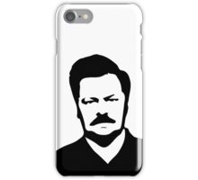 Ron Swanson - Parks and Recreation iPhone Case/Skin