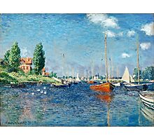 Claude Monet - Red Boats, Argenteuil (1875)  Photographic Print
