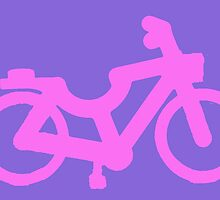 Small Pink Bicycle by themindfulart