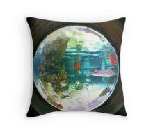 Aquarium fish-eye lens Throw Pillow
