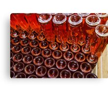 Automation bottling line for produce champagne in Alsace Canvas Print