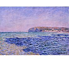 Claude Monet - Shadows on the Sea  The Cliffs at Pourville (1882)  Photographic Print