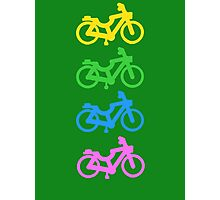 Four Small Bicycles Together Photographic Print
