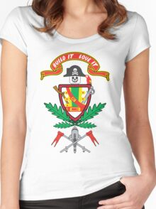 """Old School Family Crest"" Women's Fitted Scoop T-Shirt"