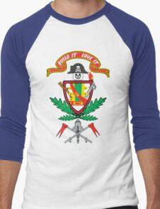 """""""Old School Family Crest"""" Men's Baseball ¾ T-Shirt"""