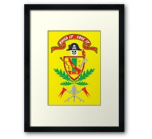 """Old School Family Crest"" Framed Print"