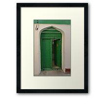Green door, Zanzibar Framed Print