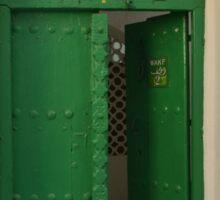 Green door, Zanzibar Sticker
