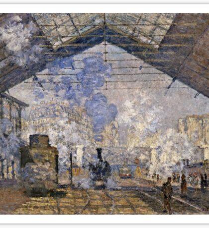 Claude Monet - The Saint Lazare Station (1877)  Sticker