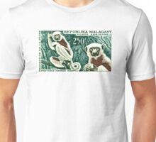 1961 Madagascar Lemur White Sifaka Stamp Unisex T-Shirt