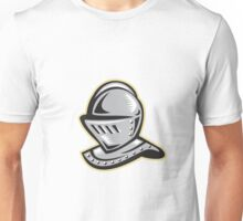 Knight Helmet Woodcut Unisex T-Shirt