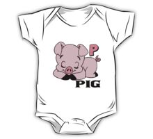 P is for Pig One Piece - Short Sleeve