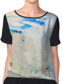 Cool Blue Marble Chiffon Top