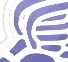 Purple Ombre Track Shoe Sticker
