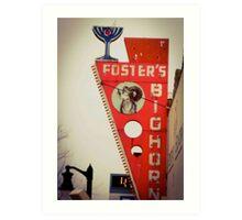 Fosters Big Horn Art Print