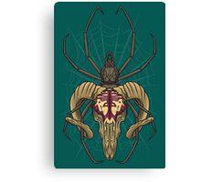 Spider Skull Canvas Print