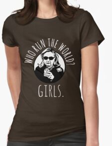 Hillary Clinton Who Run The World Womens Fitted T-Shirt