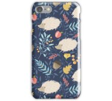 White hedgehogs iPhone Case/Skin