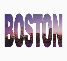 Boston Skyline Lettering by mindyjhicks